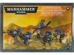 Games Workshop Warhammer 40000 40K Space Marine Devastator Squad 48-15