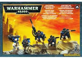 Games Workshop Warhammer 40000 40K Space Marine Scouts With Sniper Rifles 48-29